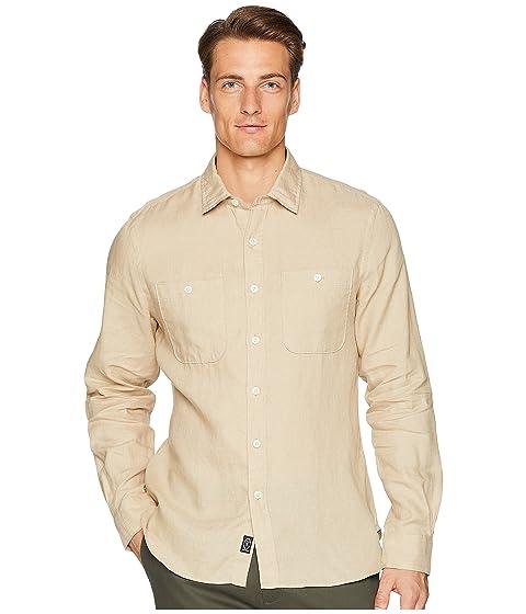 TODD SNYDER Linen Two-Pocket Shirt, Khaki
