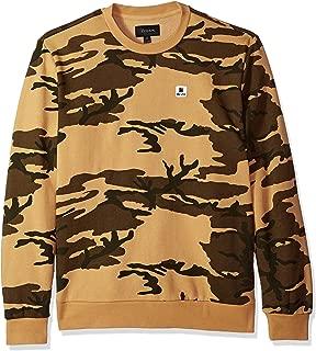 Brixton Men's Stowell Standard Fit Crew Fleece Sweatshirt