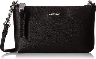 Calvin Klein Women's Hayden Key Item Saffiano Top Zip Chain Crossbody