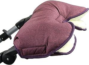 BAMBINIWELT universaler Muff/Handwärmer für Kinderwagen, Buggy, Jogger mit Wolle, meliert BORDEAUX XX