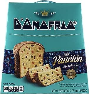 Paneton D'onofrio Traditional Fruit Cake- Gourmet Peruvian Panettone Dessert Bread- 31.7 Oz/ 1.98 lB (898 Grams)- Peruvian Food Product