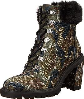 Jessica Simpson Women's Deliah Bootie Combat Boot, Green Combo, 7.5