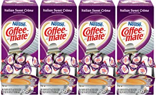 NESTLE COFFEE-MATE Coffee Creamer, Italian Sweet Creme, liquid creamer singles, 50 Count (Pack of 4)