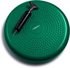 bintiva Inflated Stability Wobble Cushion, Including Free Pump/Exercise Fitness Core Balance Disc