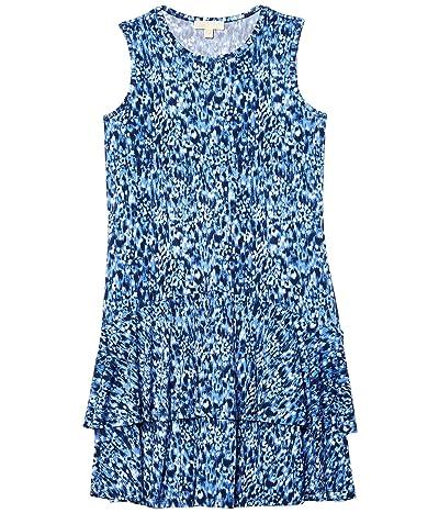 MICHAEL Michael Kors Plus Size Ikat Mj Sleeveless Dress (True Navy) Women