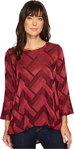 Nally & Millie - Bell Sleeve Jacard Tunic