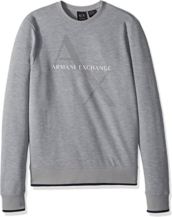 Armani Exchange Men's Imprinted Ax Logo Sweatshirt