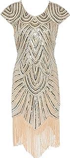 فستان ضيق لحفلات الكوكتيل من Meilun للنساء بنمط قديم مطرز بالترتر من عام 1920s مقاس كبير