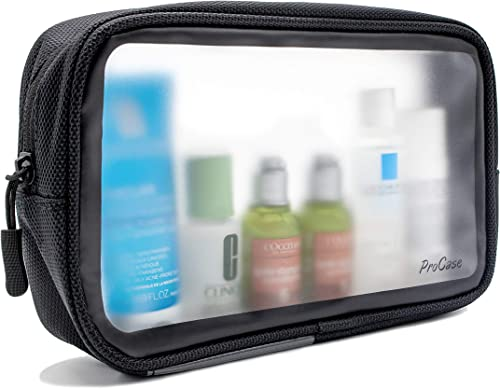 ProCase TSA Approved Travel Toiletry Bag Pouch, Matte Clear Travel Organizer Airport Carry-On Checkpoint Airline Comp...