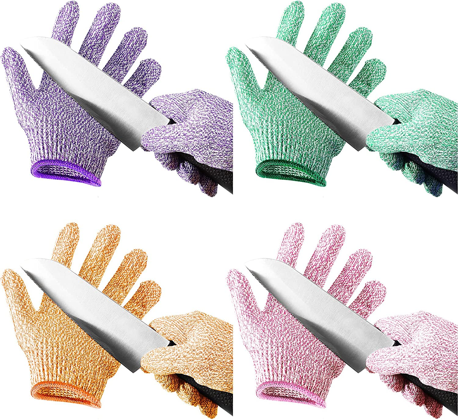 4 Selling Pairs Kids Cut Resistant 5 Protection Gloves Special sale item Level Safe