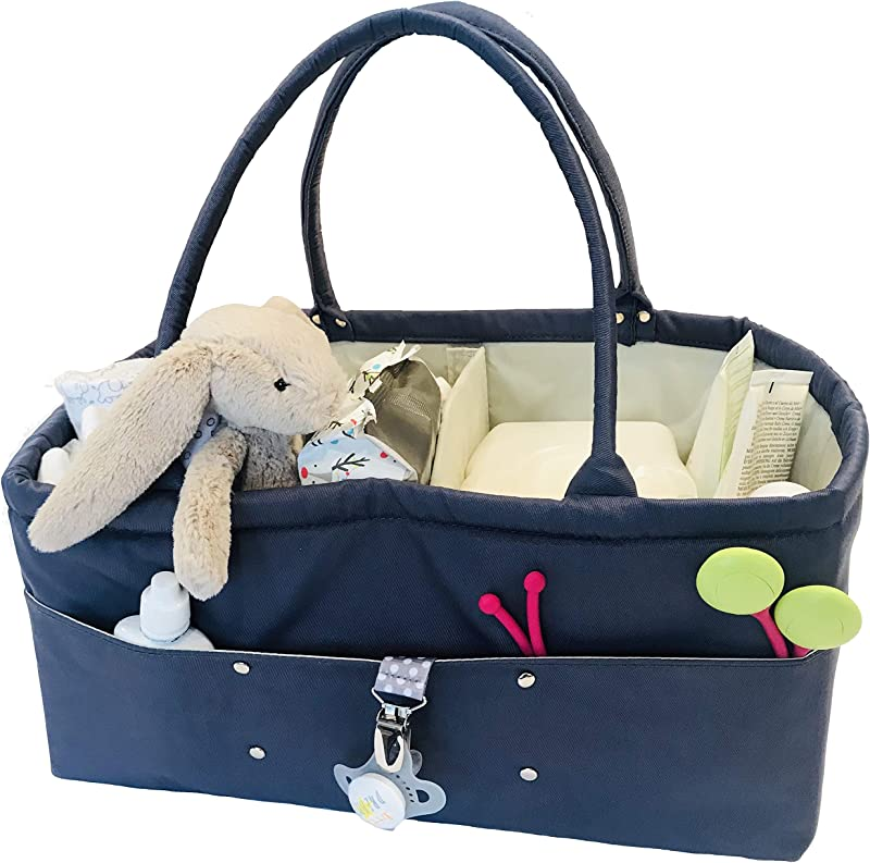 Baby Diaper Caddy Organizer Baby Boy Or Baby Girl Gifts Nursery Organizer For Changing Table Portable Car Travel Tote Bag Toys Or Book Organizer Large Baby Caddy For Newborn Essentials