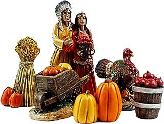 Indian Village Mini Thanksgiving Figurines - Set of 6