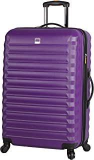 Best Treadlight Checked Luggage Collection - 28 Inch Scratch Resistant (ABS + PC) Hard Case Bag - Ultra Lightweight Expandable Large Suitcase With Rolling 4-Spinner Wheels (28in, Purple) Review