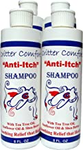 Critter Concepts Dog Shampoo – Natural Puppy Pet Shampoo for Dry, Itchy, Sensitive Skin – K9 Allergy Relief Formula, Tea-Tree Oil & Vitamins Soothe Hot Spots, Moisturize, Combat Skin Irritation