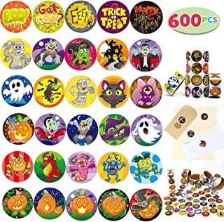 JOYIN 600 Pieces Assorted Halloween Stickers; Halloween Scrapbook Stickers Self Adhesive Shapes for Halloween Craft Supplies, Classrooms Prizes, Halloween Novelty and Jack O Lantern Stickers
