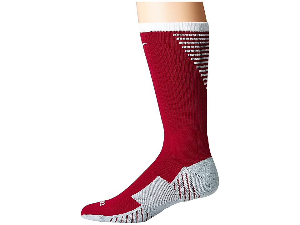 Nike Stadium Football Crew (Team Red/White) Crew Cut Socks Shoes