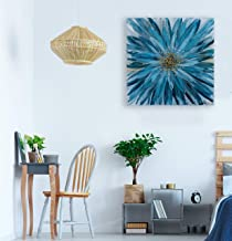Bayland Collection Blue 3030 inch Hand Floral Canvas Artwork, Home Decor, Modern Wall Art,Oil Paintings for Living Room Be...