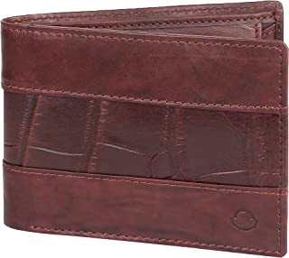 OMAX Handmade Compact Formal Genuine Leather High Quality Bifold Wallet for Men with coin pocket (DRK-Brown)