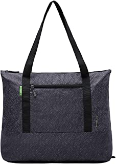 Travelon CLEAN-Antimicrobial Packable Tote Bag-SILVADUR TREATED-Gray Heather, One Size