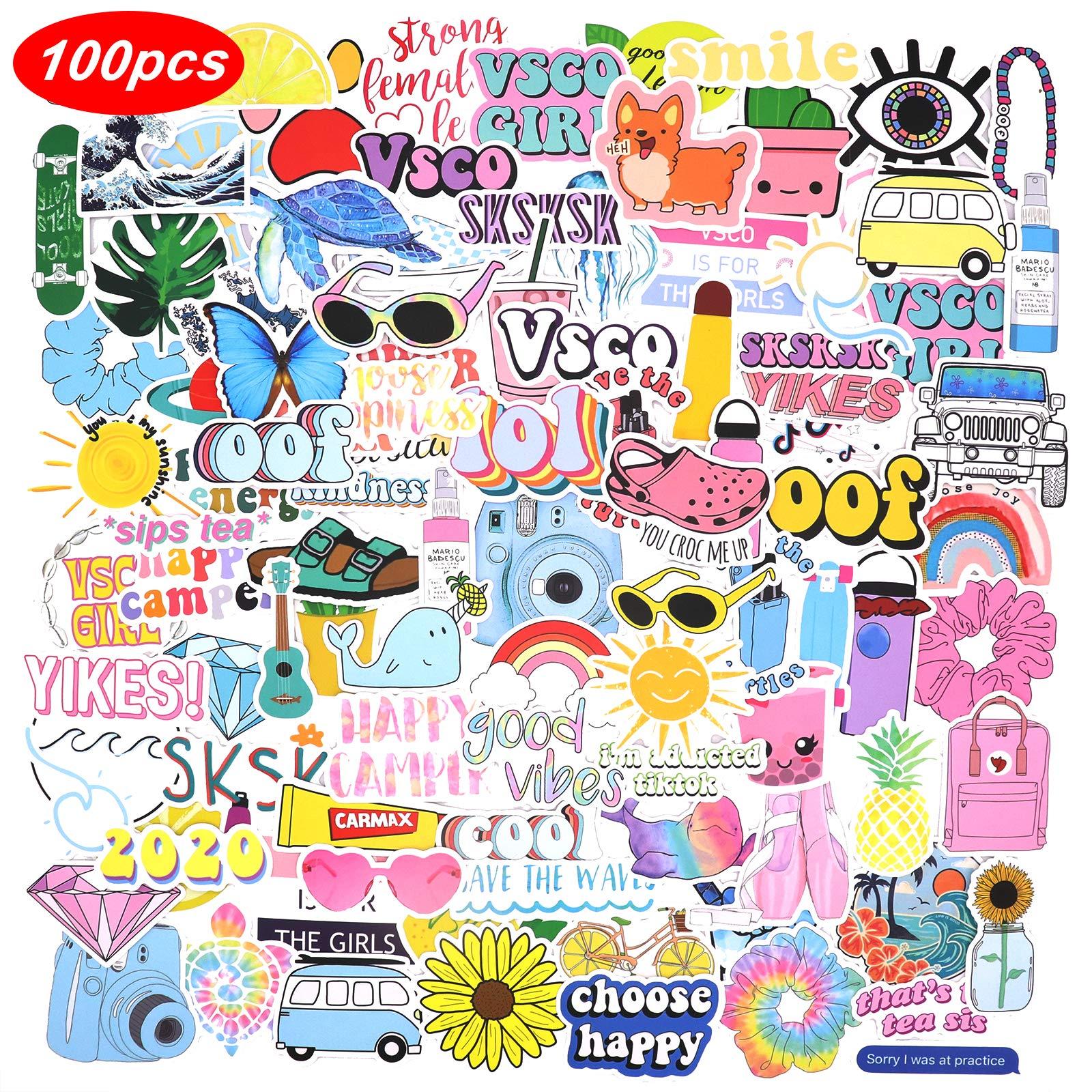 100 Pink Vsco Stickers Aesthetic Stickers Cute Stickers Laptop Stickers Vinyl Stickers Stickers For Water Bottles Waterproof Stickers For Kids Teen Girls Sticker Packs Amazon Sg Electronics