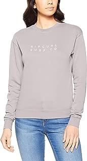 Rip Curl Women's Sands Logo Crew, Mid Grey