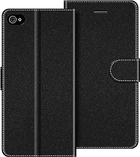 COODIO Funda iPhone 4S con Tapa, Funda Movil iPhone 4S, Funda Libro iPhone 4S Carcasa Magnético Funda para iPhone 4S / iPhone 4, Negro