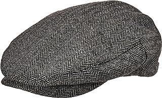 BRIXTON Men's Hooligan Driver Snap Hat, Black Herringbone, Small
