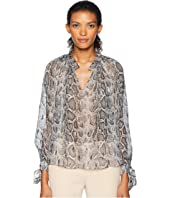 Rebecca Taylor - Long Sleeve Snake Clip Top