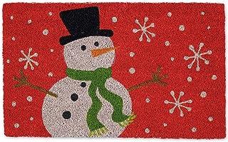 DII Indoor/Outdoor Natural Coir Holiday Season Doormat, 18x30, Snowman