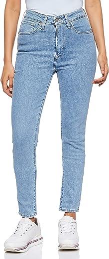 بنطال جينز ضيق عالي الخصر للنساء 721 من ليفايس