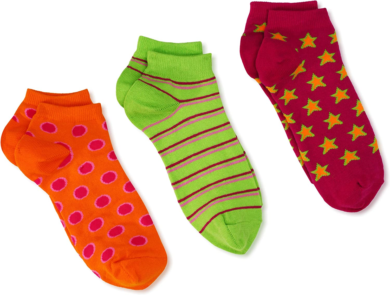 Jefferies Socks Little Girls' Dot/Stripe/Star Triple Treat Socks (Pack of 3)