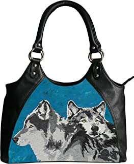 Vegan Leather Retro Style Shoulder Bag - Taken From My Original Oil Painting, Support Wildlife Conservation