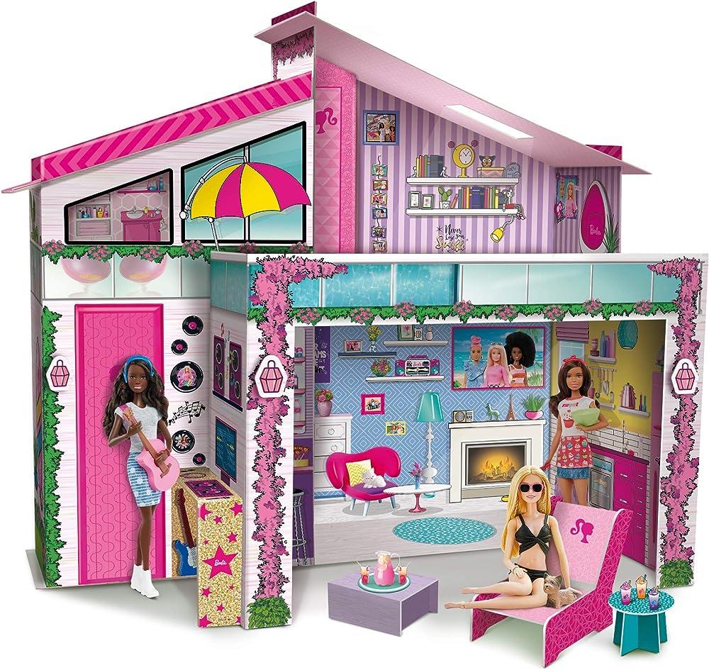 Lisciani giochi, barbie dream summer villa con doll 76932