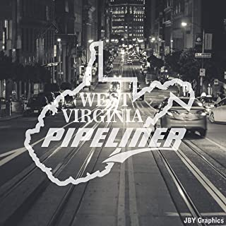 JBY Graphics WEST Virginia Pipeliner Pipe Liner Decal Vinyl Sticker Vehicle Graphic State MAP