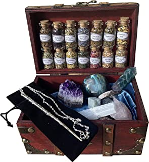 Witchcraft Kit Wiccan Altar Supplies and Tools Crystal herb Set