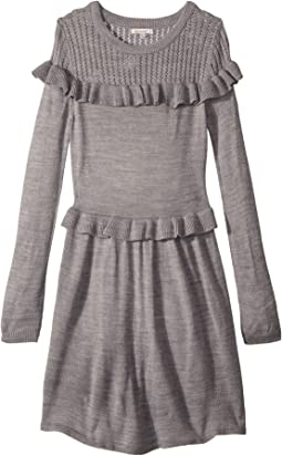 Ruffle Sweater Dress (Big Kids)
