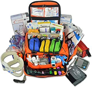 Lightning X Premium Stocked Modular EMS/EMT Trauma First Aid Responder Medical Bag + Kit