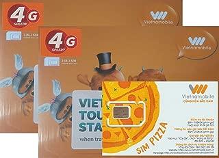 [Vietnamobile] 2枚セット ベトナム 4G 15日間 10GB データ通信SIMカード [並行輸入品]