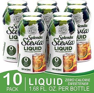 SPLENDA STEVIA LIQUID, Zero Calorie Sweetener Drops, 1.68 Ounce Bottle (Pack of 10)