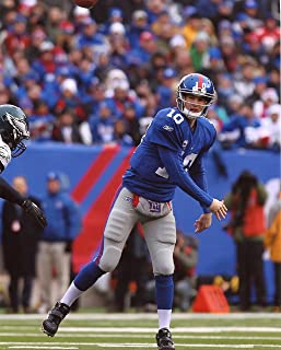 ELI MANNING NEW YORK GIANTS 8X10 SPORTS ACTION PHOTO (XLT)