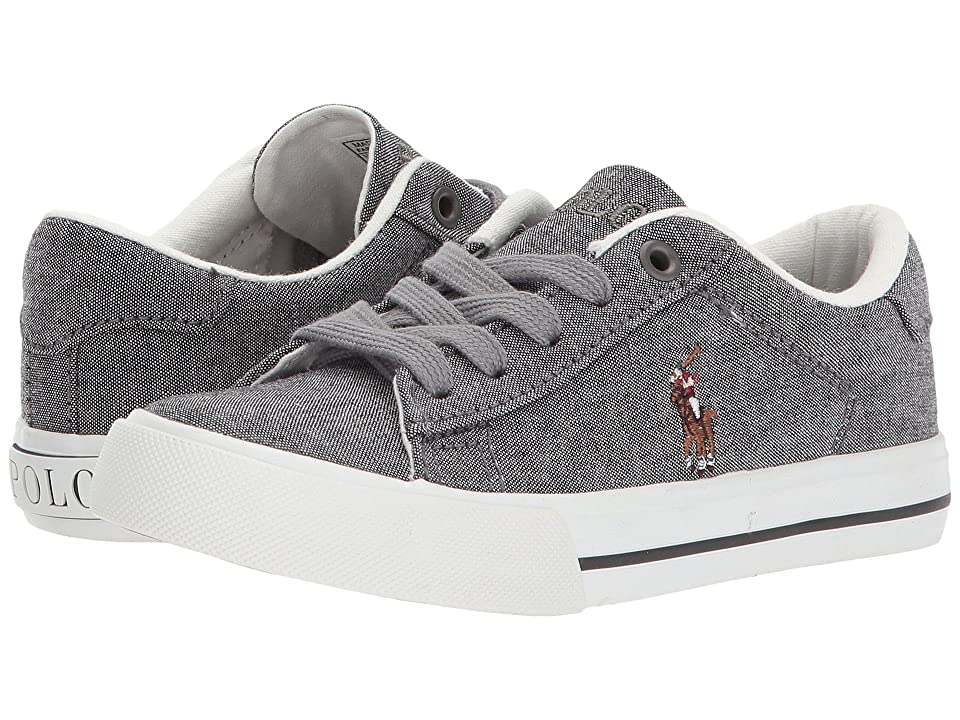 Polo Ralph Lauren Kids Easten (Little Kid) (Grey Chambray/Multi Pony Player) Kid