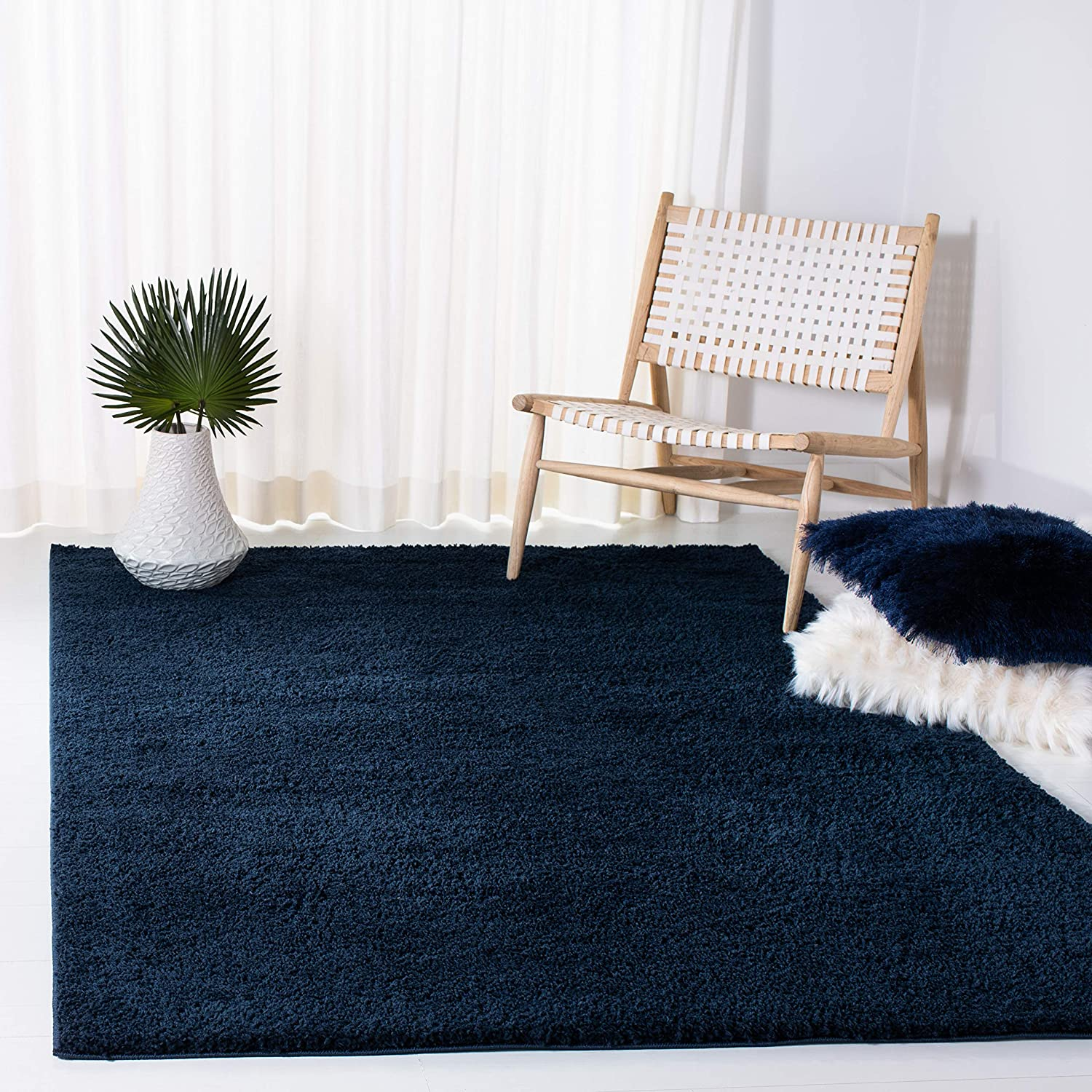 SAFAVIEH Rare Max 63% OFF August Shag Collection AUG553M Solid Non-Shedding Livin