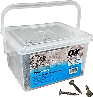 OX Tools OX-P490132 OX Pro Cement Board Screws, 8
