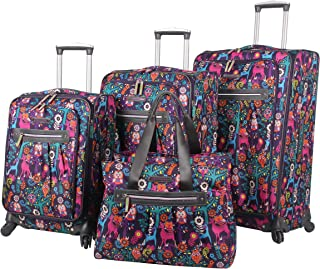 Luggage Set 4 Piece Suitcase Collection With Spinner Wheels For Woman (Wildwoods)