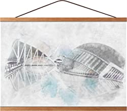 Mookgro Poster Frame 14x22 14x20 Magnetic Poster Frame Hanger Hanging Kit for Picture Photo Art Print or Canvas Artwork Li...