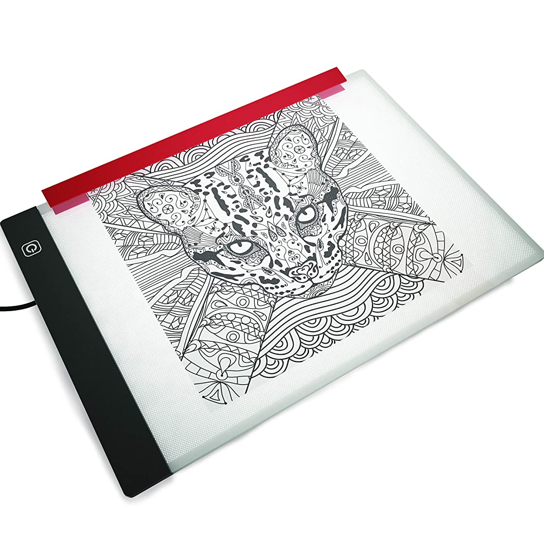 Light Box for Drawing and Tracing by Illuminati - Ultra Thin Acrylic Led Light Table - Comes with Filter to Prevent Eye Fatigue Plus Tracing Paper and Holder Clamp - Hi-Mid-Low Brightness Control