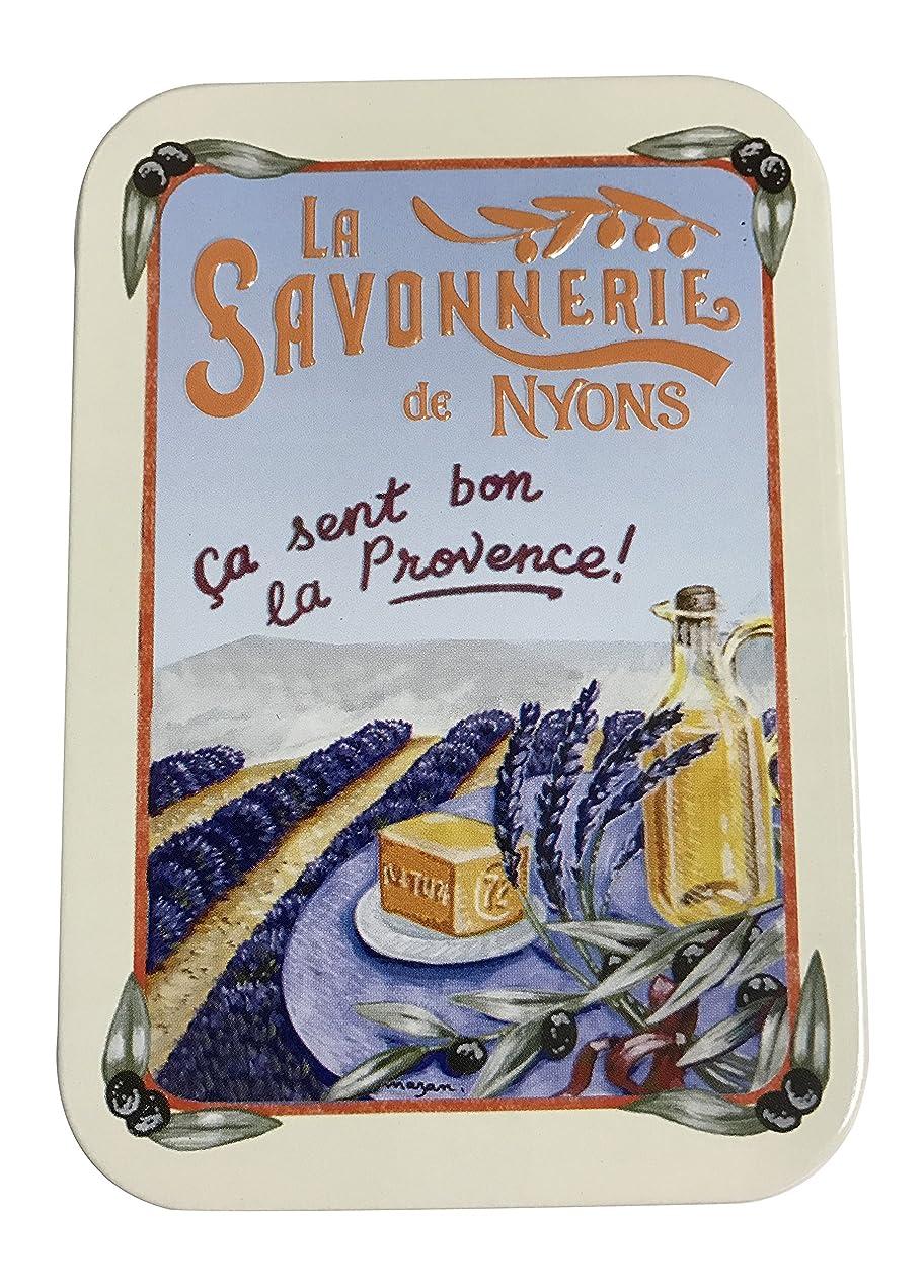 伝染性ベッドを作るスペイン語ラ?サボネリー アンティーク缶入り石鹸 タイプ200 ラベンダー畑(ラベンダー)