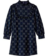 Gucci Kids - Double G Jersey Long Sleeve Dress (Little Kids/Big Kids)