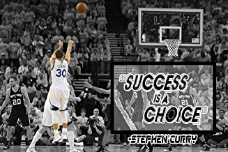 Stephen Curry Poster Quote Cool Golden State Warriors Steph Curry Quotes Posters Basketball Sports Décor Coaching Wall Art Growth Mindset Teacher Educational Teaching Learning Mindsets Quotes P060