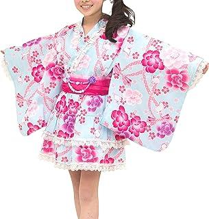 [アリサナ]arisana 浴衣 こども 女の子 浴衣ドレス 子供 プリンセス (セパレート浴衣+兵児帯2枚セット)